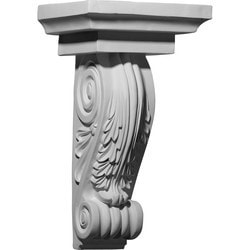 "Decorative Polyurethane Corbels Ekena 11 5/8"" W x 8 5/8"" D x 20 1/4"" H Moldings & Millwork Corbels Type 150368951 in Canada"