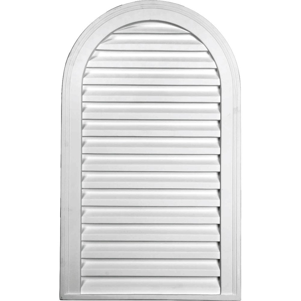 Ekena millwork gable vents cathedral gable vent louver for Decorative louvers