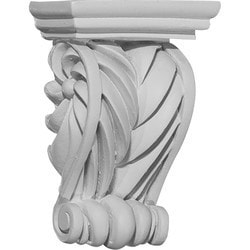 "Decorative Polyurethane Corbels Ekena 2 5/8"" W x 1 3/8"" D x 3 5/8"" H Moldings & Millwork Corbels Type 150367681 in Canada"