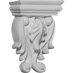 "Decorative Polyurethane Corbels Ekena 2 5/8"" W x 1 3/8"" D x 3 5/8"" H Moldings & Millwork Corbels Type 150367691 in Canada"