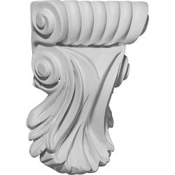 "Decorative Polyurethane Corbels Ekena 3 7/8"" W x 1 1/4"" D x 5 1/4"" H Moldings & Millwork Corbels Type 150367791 in Canada"