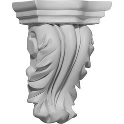 "Decorative Polyurethane Corbels Ekena 4 1/4"" W x 2 5/8"" D x 5 3/4"" H Moldings & Millwork Corbels Type 150367951 in Canada"