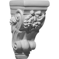"Decorative Polyurethane Corbels Ekena 4 5/8"" W x 5 1/2"" D x 9 3/8"" H Moldings & Millwork Corbels Type 150368111 in Canada"