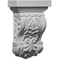 "Decorative Polyurethane Corbels Ekena 5 1/2"" W x 2 3/4"" D x 8 1/4"" H Moldings & Millwork Corbels Type 150368271 in Canada"