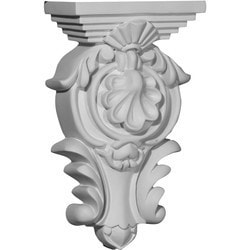 "Decorative Polyurethane Corbels Ekena 5 1/2"" W x 2 3/4"" D x 9 3/8"" H Moldings & Millwork Corbels Type 150368301 in Canada"
