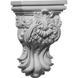 "Decorative Polyurethane Corbels Ekena 5 3/8"" W x 2 1/2"" D x 7 3/4"" H Moldings & Millwork Corbels Type 150368241 in Canada"