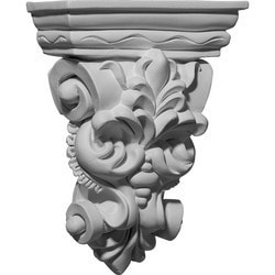 "Decorative Polyurethane Corbels Ekena 6 1/4"" W x 2 7/8"" D x 8 1/4"" H Moldings & Millwork Corbels Type 150368431 in Canada"