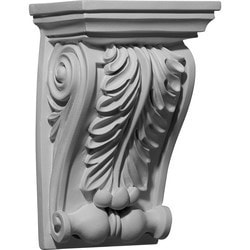 "Decorative Polyurethane Corbels Ekena 6 1/8"" W x 4 5/8"" D x 9 1/2"" H Moldings & Millwork Corbels Type 150368501 in Canada"
