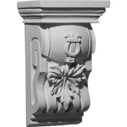 "Decorative Polyurethane Corbels Ekena 6 3/4"" W x 4 3/8"" D x 10 3/4"" H Moldings & Millwork Corbels Type 150368511 in Canada"