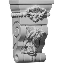 "Decorative Polyurethane Corbels Ekena 6 1/2"" W x 3 5/8"" D x 10 1/8"" H Moldings & Millwork Corbels Type 150368471 in Canada"