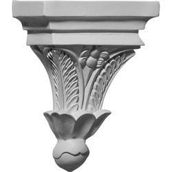 "Decorative Polyurethane Corbels Ekena 7"" W x 3 1/2"" D x 9"" H Moldings & Millwork Corbels Type 150368621 in Canada"