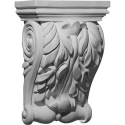 "Decorative Polyurethane Corbels Ekena 7 3/4"" W x 3 7/8"" D x 11"" H Moldings & Millwork Corbels Type 150368681 in Canada"