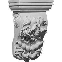 "Decorative Polyurethane Corbels Ekena 7 3/4"" W x 4 1/2"" D x 12 3/8"" H Moldings & Millwork Corbels Type 150368691 in Canada"
