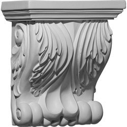 "Decorative Polyurethane Corbels Ekena 7 1/8"" W x 4 1/8"" D x 8 1/4"" H Moldings & Millwork Corbels Type 150368661 in Canada"