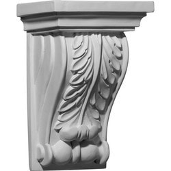 "Decorative Polyurethane Corbels Ekena 7 3/8"" W x 5 3/8"" D x 11"" H Moldings & Millwork Corbels Type 150368711 in Canada"