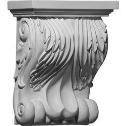"Decorative Polyurethane Corbels Ekena 8 3/4"" W x 4 5/8"" D x 11"" H Moldings & Millwork Corbels Type 150368761 in Canada"