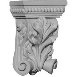 "Decorative Polyurethane Corbels Ekena 2 7/8"" W x 1 1/2"" D x 4 3/8"" H Moldings & Millwork Corbels Type 150367701 in Canada"
