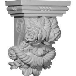 "Decorative Polyurethane Corbels Ekena 8 1/2"" W x 5 1/4"" D x 11 3/8"" H Moldings & Millwork Corbels Type 150368781 in Canada"