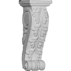 "Decorative Polyurethane Corbels Ekena 4 1/4"" W x 4 3/8"" D x 12 3/4"" H Moldings & Millwork Corbels Type 150368091 in Canada"