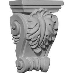 "Decorative Polyurethane Corbels Ekena 4 1/4"" W x 2 3/8"" D x 6 3/8"" H Moldings & Millwork Corbels Type 150367971 in Canada"