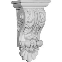 "Decorative Polyurethane Corbels Ekena 8"" W x 5"" D x 14 7/8"" H Moldings & Millwork Corbels Type 150368791 in Canada"