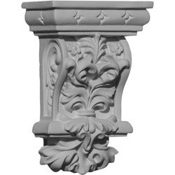 "Decorative Polyurethane Corbels Ekena 2 7/8"" W x 1 5/8"" D x 4 3/8"" H Moldings & Millwork Corbels Type 150367711 in Canada"