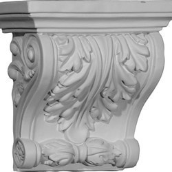 "Decorative Polyurethane Corbels Ekena 7 1/2"" W x 4"" D x 7 1/4"" H Moldings & Millwork Corbels Type 150368651 in Canada"