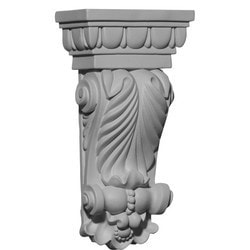 "Decorative Polyurethane Corbels Ekena 5"" W x 2 5/8"" D x 9 3/4"" H Moldings & Millwork Corbels Type 150368291 in Canada"