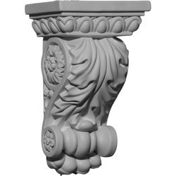 "Decorative Polyurethane Corbels Ekena 5"" W x 3 5/8"" D x 8 3/8"" H Moldings & Millwork Corbels Type 150368321 in Canada"