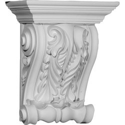 "Decorative Polyurethane Corbels Ekena 11 3/4"" W x 5 7/8"" D x 14 1/8"" H Moldings & Millwork Corbels Type 150368921 in Canada"