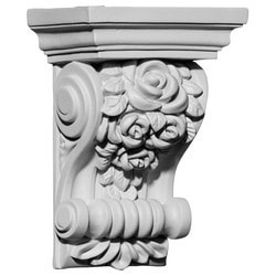 "Decorative Polyurethane Corbels Ekena 4"" W x 2 3/4"" D x 5 5/8"" H Moldings & Millwork Corbels Type 150368041 in Canada"