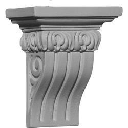 "Decorative Polyurethane Corbels Ekena 4 5/8"" W x 2 3/4"" D x 5 1/2"" H Moldings & Millwork Corbels Type 150368231 in Canada"