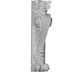 "Decorative Polyurethane Corbels Ekena 8 1/4"" W x 6 7/8"" D x 28 1/8"" H Moldings & Millwork Corbels Type 150368831 in Canada"