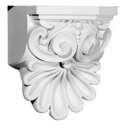 "Decorative Polyurethane Corbels Ekena 6 3/8"" W x 5 5/8"" D x 9"" H Moldings & Millwork Corbels Type 150368531 in Canada"