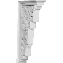"Decorative Polyurethane Corbels Ekena 2 1/8"" W x 7 7/8"" D x 12 1/8"" H Moldings & Millwork Corbels Type 150368961 in Canada"