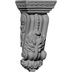 "Decorative Polyurethane Corbels Ekena 2 3/4"" W x 1 5/8"" D x 5 1/2"" H Moldings & Millwork Corbels Type 150367721 in Canada"