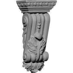 "Decorative Polyurethane Corbels Ekena 4 5/8"" W x 2 5/8"" D x 9 3/4"" H Moldings & Millwork Corbels Type 150368001 in Canada"