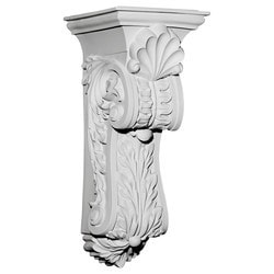 "Decorative Polyurethane Corbels Ekena 10 3/8"" W x 11 5/8"" D x 25 1/2"" H Moldings & Millwork Corbels Type 150368901 in Canada"