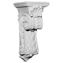 "Decorative Polyurethane Corbels Ekena 7 7/8"" W x 8 3/4"" D x 18 1/4"" H Moldings & Millwork Corbels Type 150368751 in Canada"