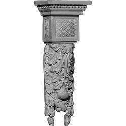 "Decorative Polyurethane Corbels Ekena 4 1/4"" W x 2 1/2"" D x 10 7/8"" H Moldings & Millwork Corbels Type 150368021 in Canada"