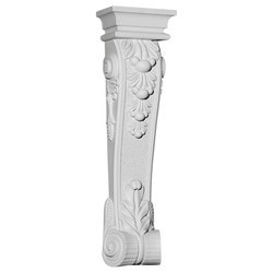 "Decorative Polyurethane Corbels Ekena 10 1/8"" W x 5 7/8"" D x 37"" H Moldings & Millwork Corbels Type 150368891 in Canada"