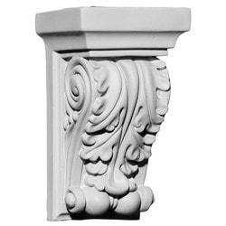 "Decorative Polyurethane Corbels Ekena 3 1/2"" W x 2 3/4"" D x 6"" H Moldings & Millwork Corbels Type 150367841 in Canada"