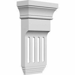 "Decorative Polyurethane Corbels Ekena 6"" W x 2"" D x 10 3/8"" H Moldings & Millwork Corbels Type 150367151 in Canada"