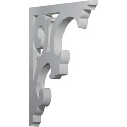 "Decorative Polyurethane Corbels Ekena 1"" W x 13 3/4"" D x 14 5/8"" H Moldings & Millwork Corbels Type 150367551 in Canada"
