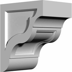 "Decorative Polyurethane Corbels Ekena 7 1/4"" W x 12"" D x 10 1/8"" H Moldings & Millwork Corbels Type 150367441 in Canada"