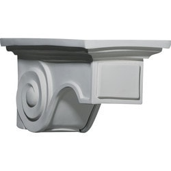 "Decorative Polyurethane Corbels Ekena 6 1/4"" W x 11 3/4"" D x 5 7/8"" H Moldings & Millwork Corbels Type 150367461 in Canada"