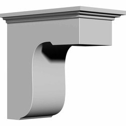 "Decorative Polyurethane Corbels Ekena 4 7/8"" W x 8"" D x 8"" H Moldings & Millwork Corbels Type 150367341 in Canada"