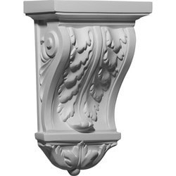 "Decorative Polyurethane Corbels Ekena 7 7/8"" W x 4 1/2"" D x 12 1/8"" H Moldings & Millwork Corbels Type 150368701 in Canada"