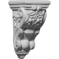 "Decorative Polyurethane Corbels Ekena 4 7/8"" W x 5 5/8"" D x 9 5/8"" H Moldings & Millwork Corbels Type 150368121 in Canada"