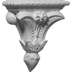 "Decorative Polyurethane Corbels Ekena 7 3/8"" W x 3 1/4"" D x 8 3/4"" H Moldings & Millwork Corbels Type 150368611 in Canada"